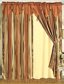 Curtains with an Attached Valance