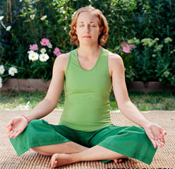Sukhasana (the easy pose)