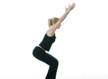 Utkatasana ~ Semi-Standing Pose on Tiptoe