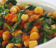 Chickpeas and Spinach Indian Recipe