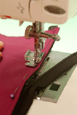 Inserting a Zipper