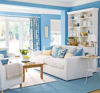 Captivating How To Decorate A House With Blue U0026 White