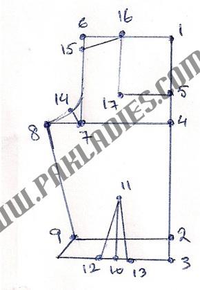 How to Make Pattern for Sari Blouse Part 2, in English - Urdu | Pak ...