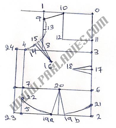 How to Make Pattern for Sari Blouse Part 1 in English - Urdu | Pak ...