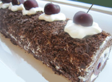 Black Forest Ice Cream Roll