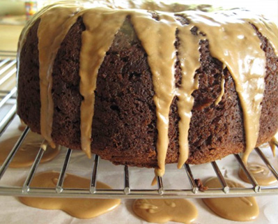 Banana Espresso Coffee Cake with Chocolate Chips