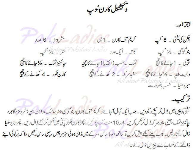 How To Make Vegetable Corn Soup English Urdu Recipe Pak Ladies
