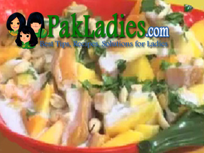 salad with coconut