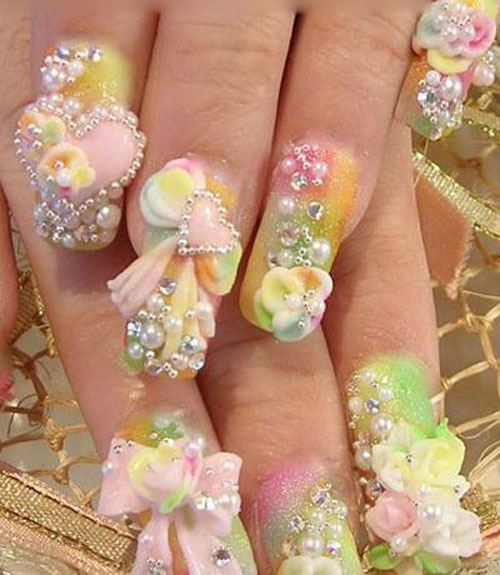 Amazing 3D Nail Art Designs