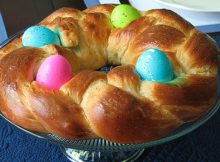 Braided Easter Bread with Eggs