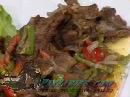 fried chops with capsicum recipe