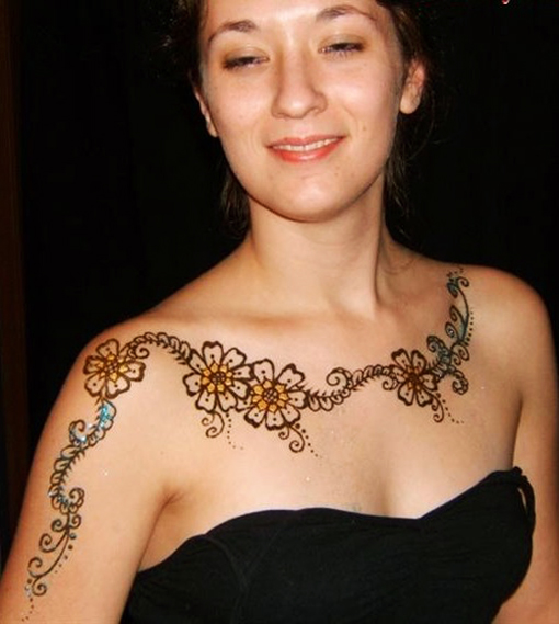 Neck Mehndi Designs