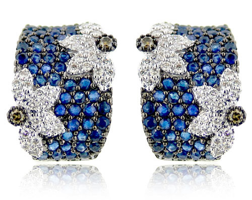Sapphire Diamond Stud Earrings