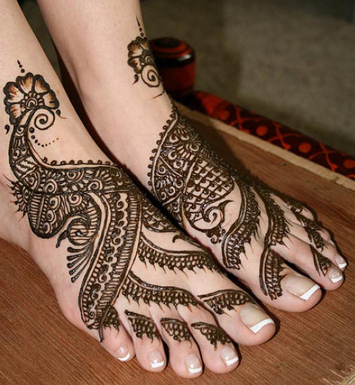 henna design for feet