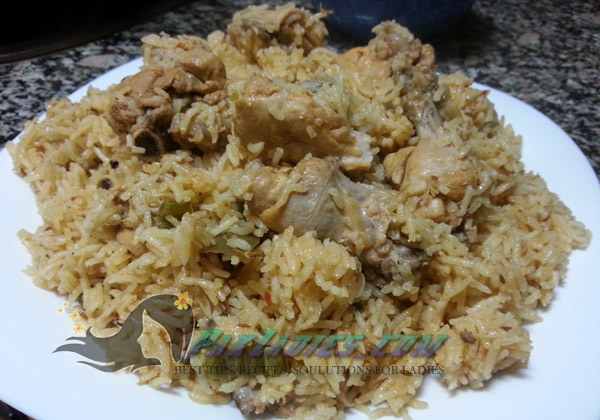 chicken tikka pulao