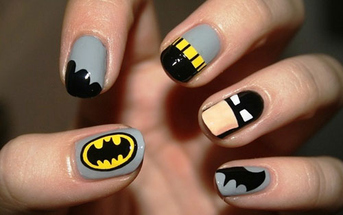 Comic Book Themed Nail Art