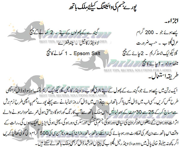 Milk Bath Recipe by Dr Khurram