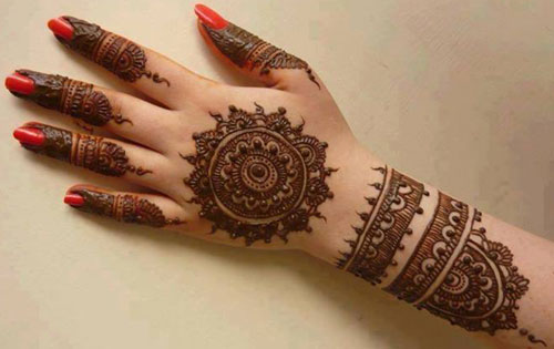 Eid Mehndi Designs For Back