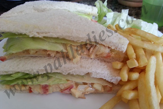 Egg and Chicken Salad Sandwich