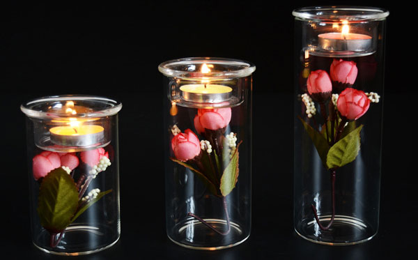 DIY Glass Candle Holder