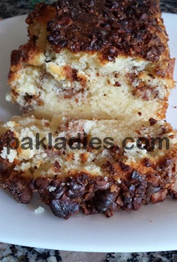 walnut coffee cake with sour cream