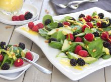Anti-Aging Avocado Berry Salad Mango Vinaigrette