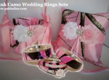 Pink Camo Wedding Rings Sets