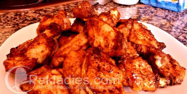 Five Spice Honey Chicken Wings with Creamy Cilantro Dip