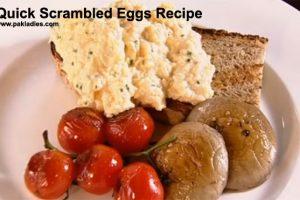 Quick Scrambled Eggs Recipe