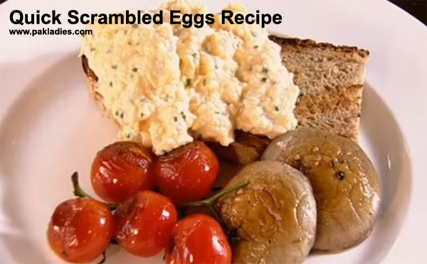 Quick Scrambled Eggs Recipe