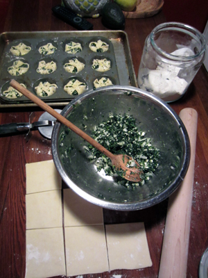 Spinach and Feta Cheese Puffs