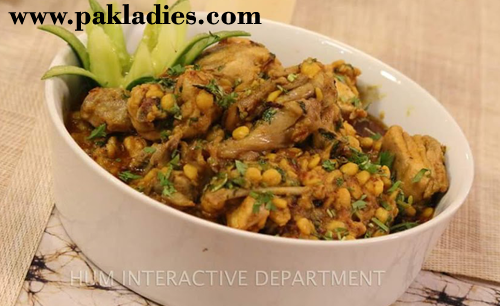 Channa Daal Chicken Recipe by Shireen Anwar