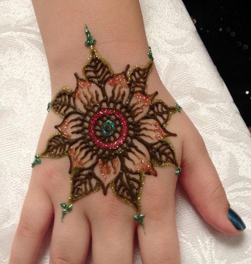 glitter mehndi designs