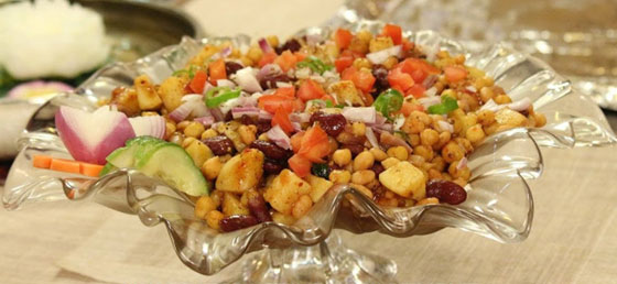 three beans chaat