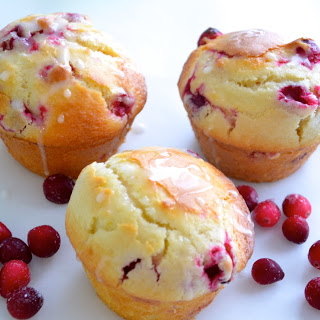cranberry walnut cream cheese muffins