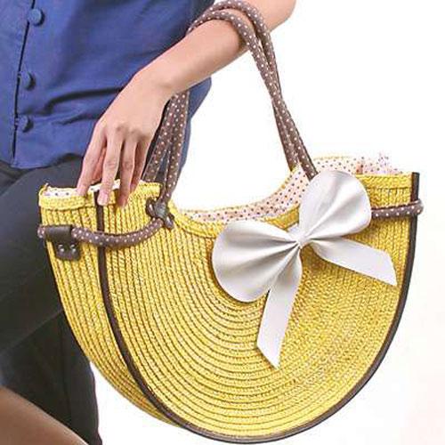 sunny straw bag