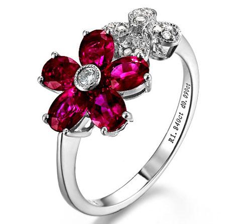 Women Ruby Diamond Rings