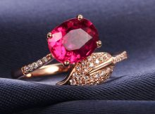 Women Ruby Diamond Rings