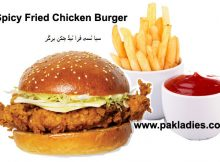 Spicy Fried Chicken Burger
