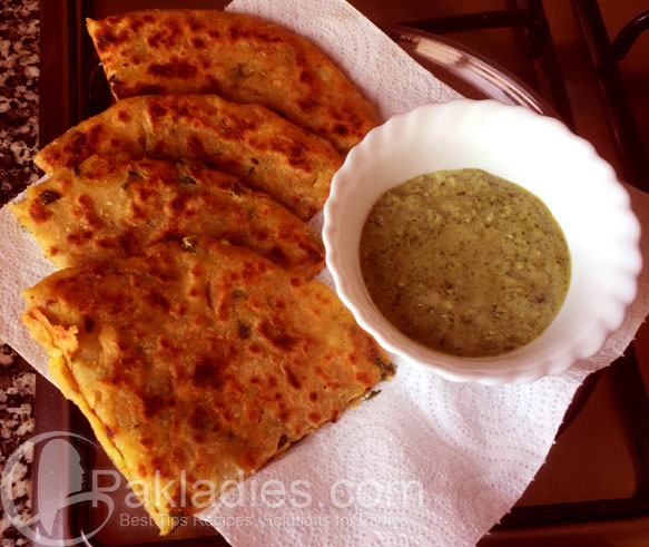 quick aloo paratha recipe