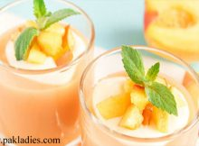 Peach and Coconut Milk Smoothie