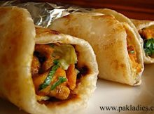 Hot and Spicy Makhani Chicken Roll
