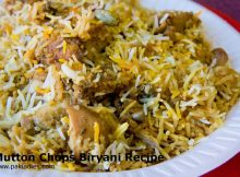 Mutton Chops Biryani Recipe