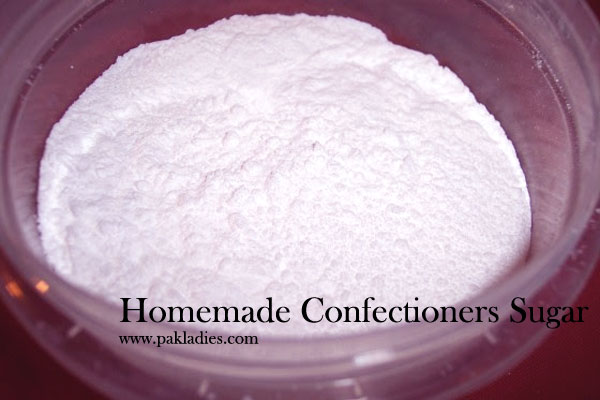 Homemade Confectioners Sugar