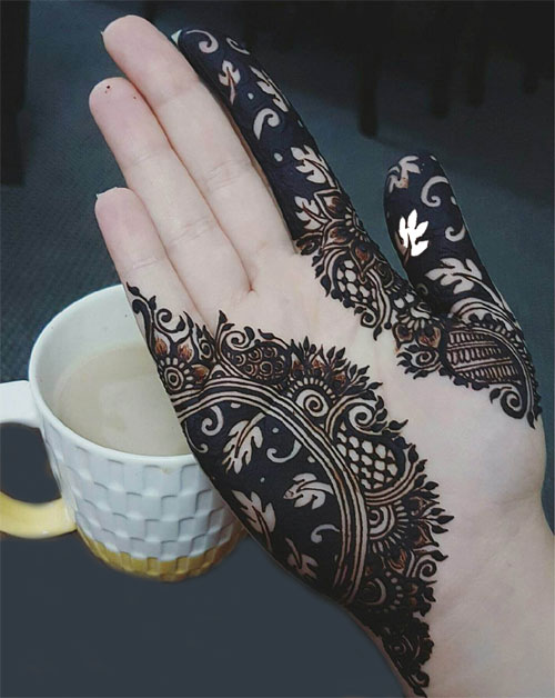 Black Mehndi Designs 2018
