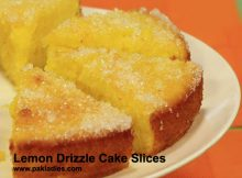 Lemon Drizzle Cake Slices