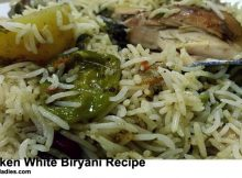 Chicken White Biryani Recipe