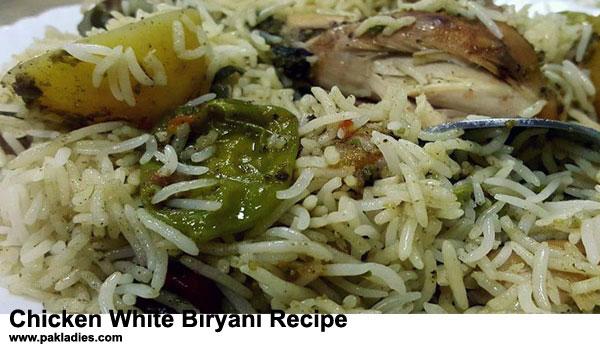 Chicken White Biryani Recipe