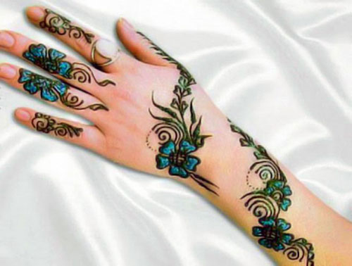 Color Mehndi Designs