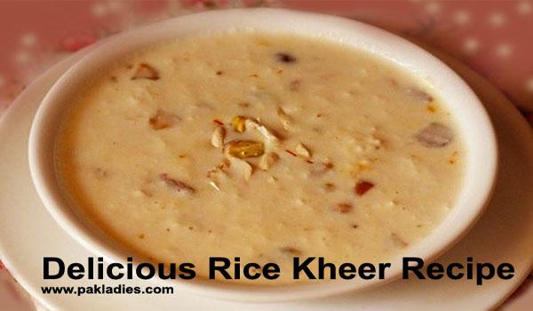 Delicious Rice Kheer Recipe
